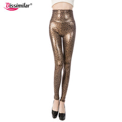 Women's Leggings Sexy Skinny Faux Leather High Waist Pants XS/S/M/L/XL 21 colors