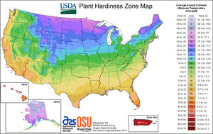 Hardiness Zones and Growing Days