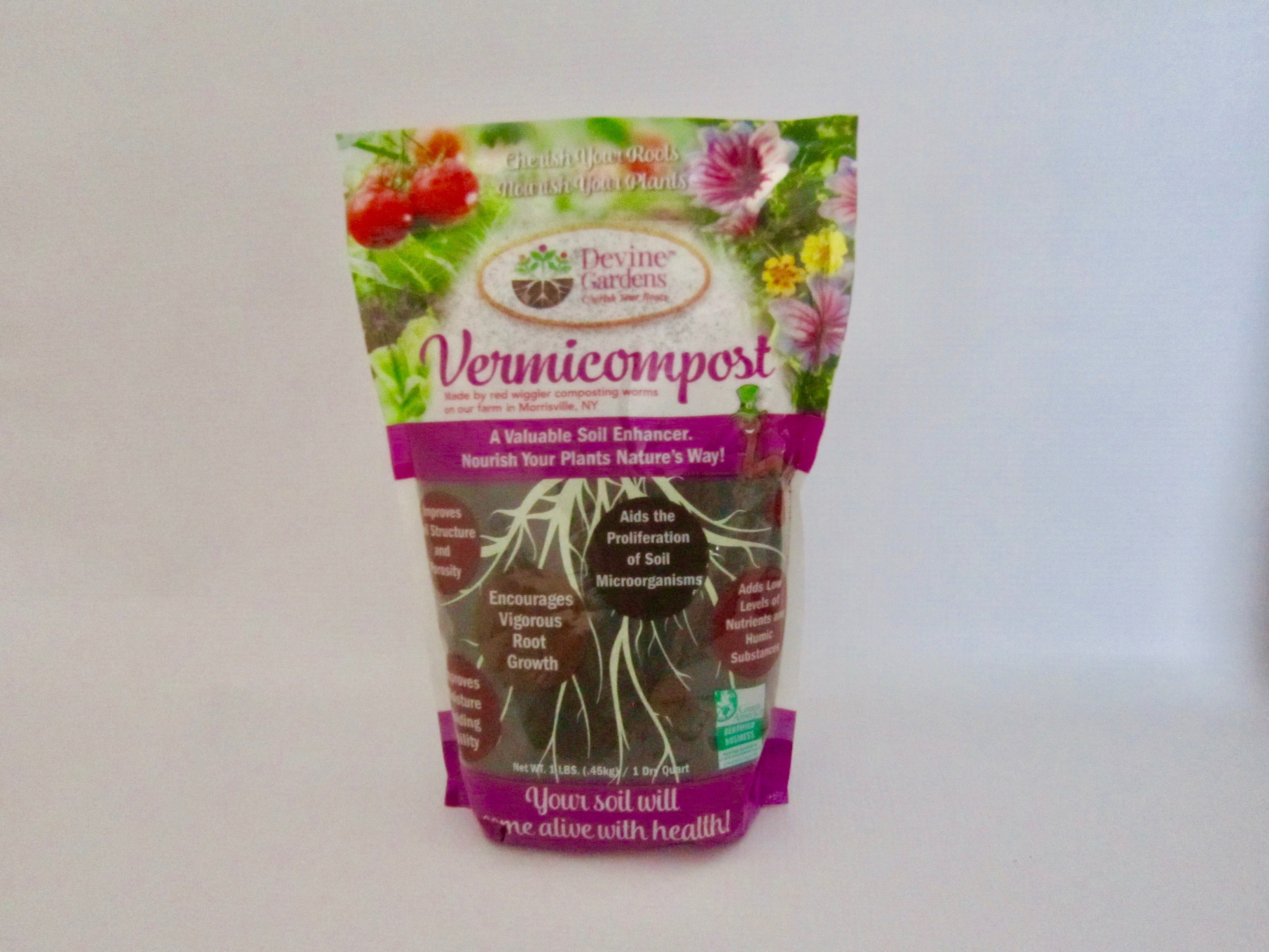 One pound/one quart bag of  Vermicompost