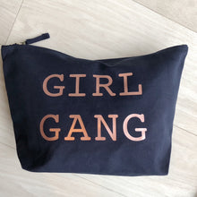 *NEW* LIMITED EDITION XL GIRL GANG NAVY POUCH BAG - THE BIG ONE