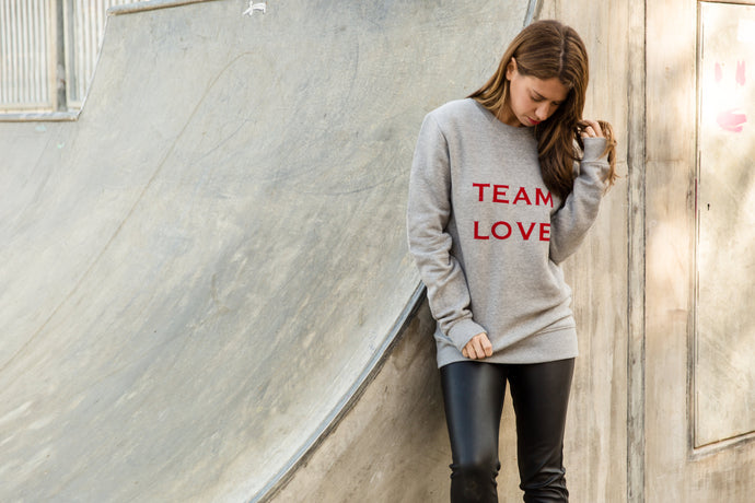 TEAM LOVE FAIR TRADE SWEATSHIRT - ADULTS