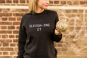 SLEIGH-ING IT CHRISTMAS JUMPER - ADULT SWEATSHIRT