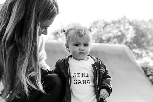GIRL GANG WHITE TEE - CHILDRENS