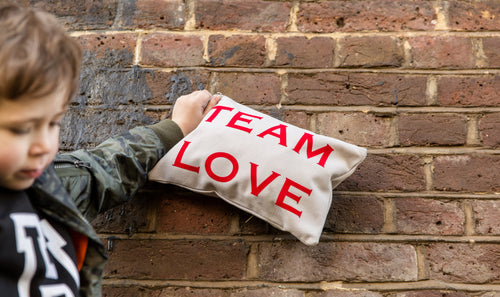 Team Love Grey Pouch Bag