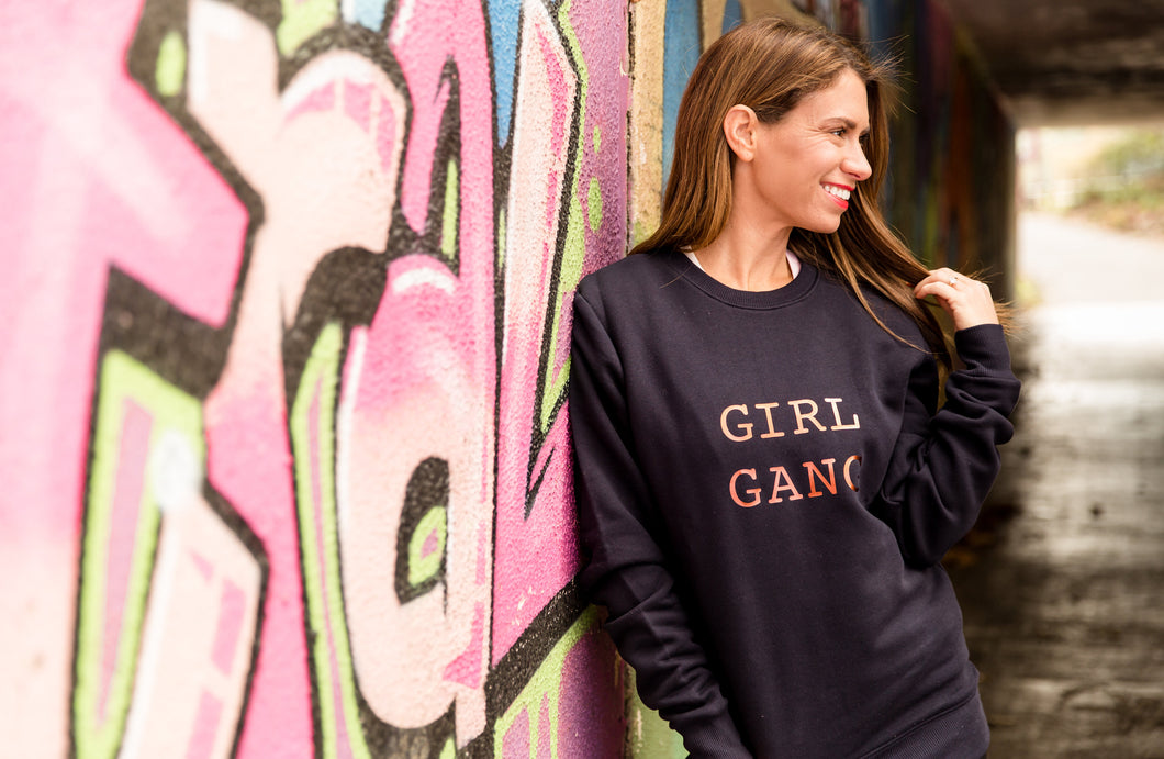 LIMITED EDITION GIRL GANG COPPER & NAVY SWEATSHIRT - ADULTS