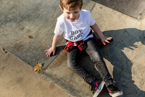 BOY GANG WHITE TEE - CHILDRENS