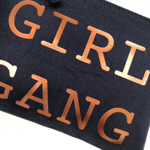 *NEW* LIMITED EDITION SMALL GIRL GANG NAVY POUCH BAG