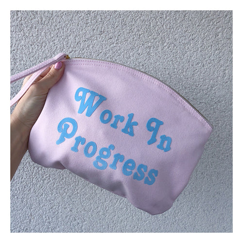 Work In Progress Pink Clutch Pouch
