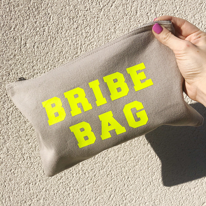 LIMITED EDITION BRIBE BAG GREY POUCH BAG