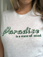 Paradise Is A State Of Mind Arctic Grey Marl Tee - Adults