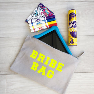 Limited Edition Bribe Bag Grey Pouch