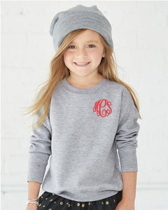 Monogrammed Toddler Sweatshirt