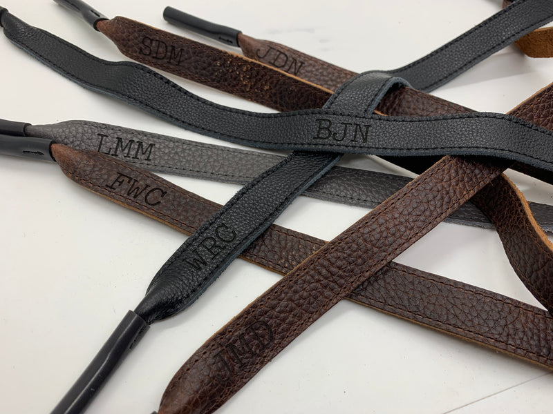 Genuine Leather Monogrammed Sunglasses Straps