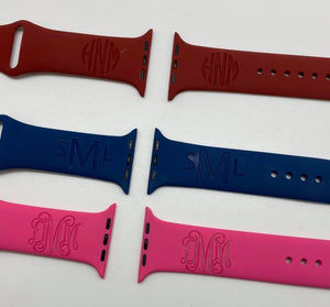 38/40 Apple Silicone Watch Bands (Engraved)