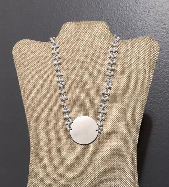 "1.5"" Pendant Pearl Necklace"