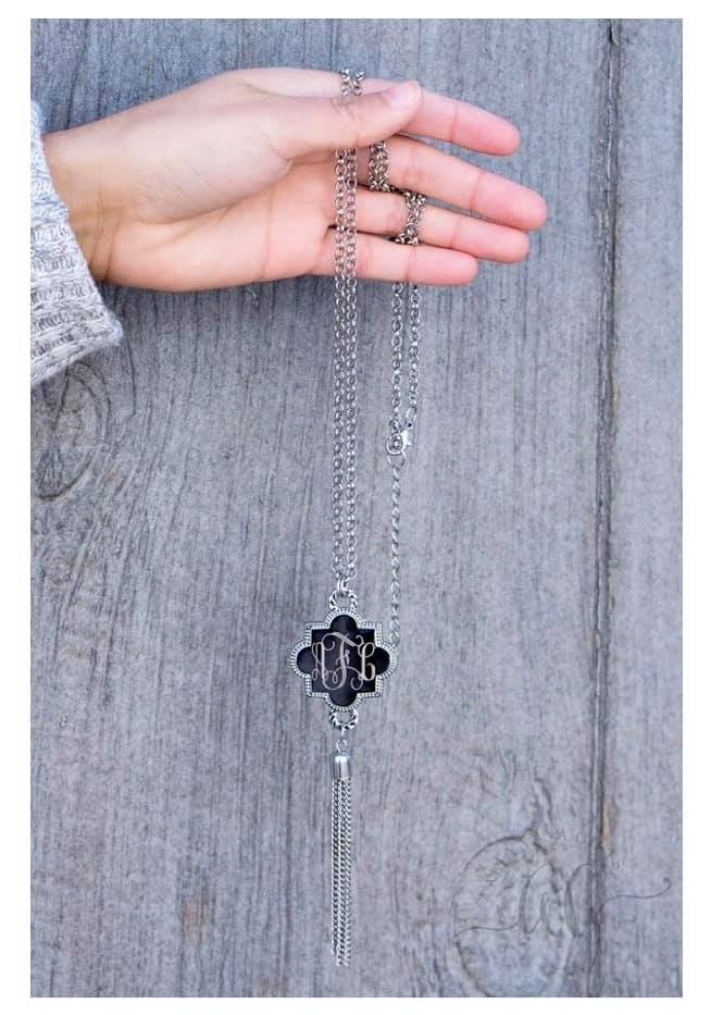 Quatrefoil Necklace with Tassel
