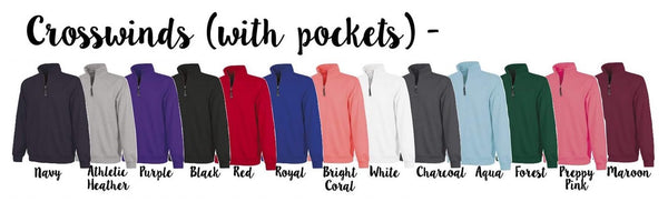Charles River Crosswinds Quarter Zip Sweatshirts