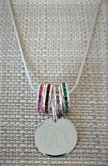 Monogrammed Engraved Necklace