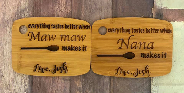 Grandparent Customizable Engraved Cutting Board