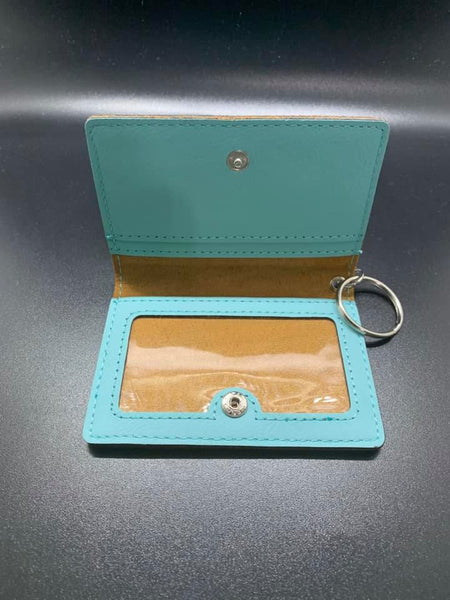 Leather Keychain ID/Card Holder