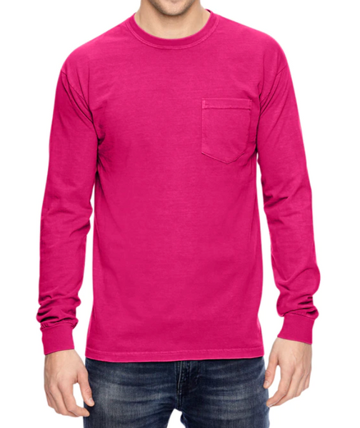 Valentines Day Comfort Color Pocket Tee