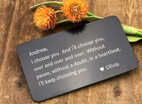 Personalized Wallet Card Insert