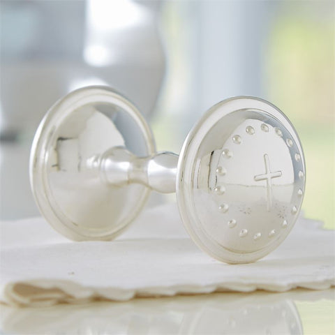Silver Plate Baby Rattle