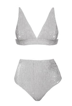 Mid-Paillettes High-Waisted Bra