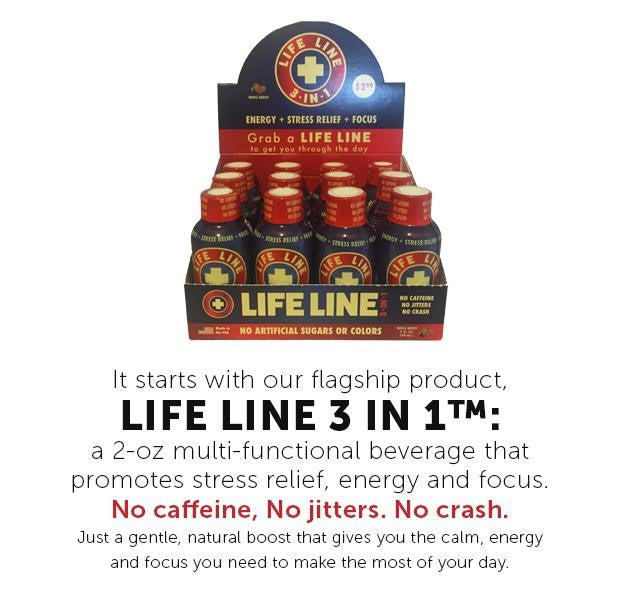 Life Line 3 IN 1 promotes stress relief, energy and focus.