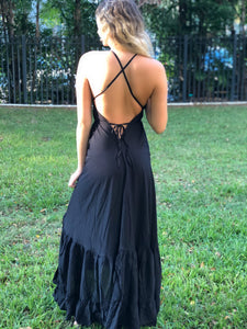 Bohemian ruffle dress