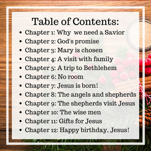 Table of Contents - Mother Child Christmas Devotional