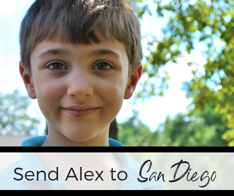 Fundraiser for Alex's Trip to San Diego