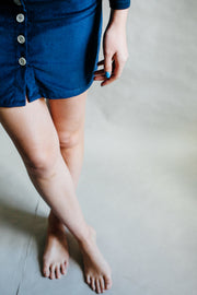 Navy Blue Kiku Skirt