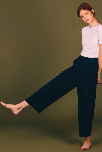 Blue Navy Ume Trousers