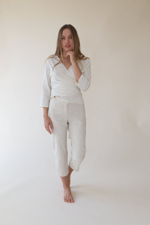 Chantal Beige Capri Pants