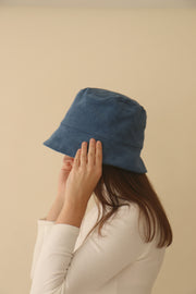 Blue Zinan Bucket Hat