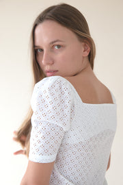 Marie White Blouse