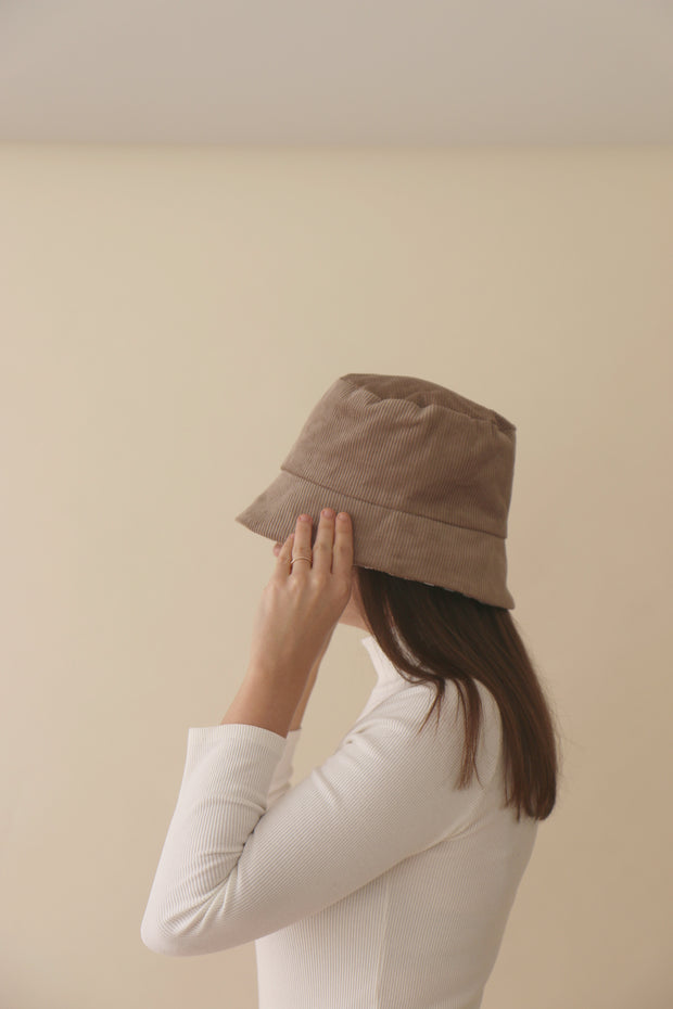 Beige Zinan Bucket Hat
