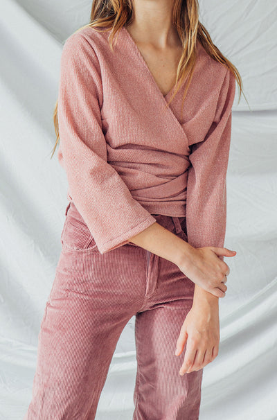 Pale Pink Gabin Wrap Top