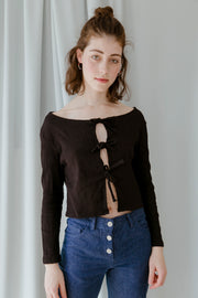 Bluebell Black Top