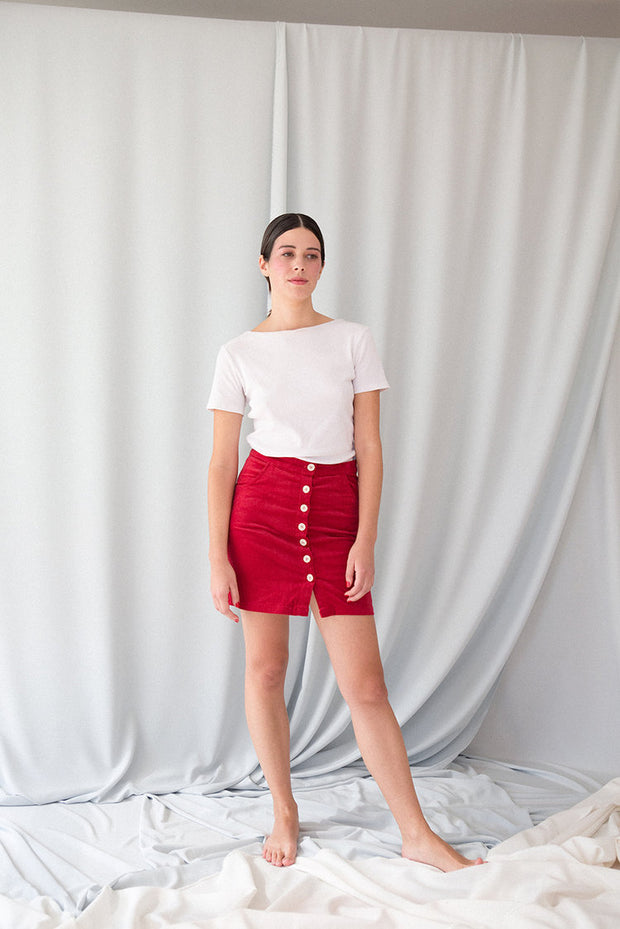 Red Kiku Skirt
