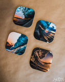 """Faces of Waves"" Coaster Series"