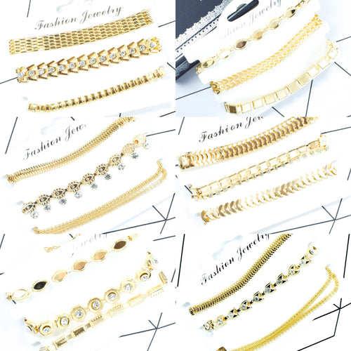 Gold Tone Bracelets Multipack - msuclassy