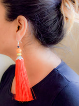 Beaded Long Tassel Earrings - msuclassy