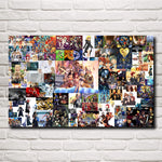 KH Collage Silk Fabric Poster