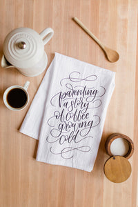 Cold Coffee Tea Towel