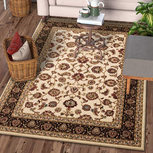 Nevada Flower Rug - Cream & Red - Rug Masters