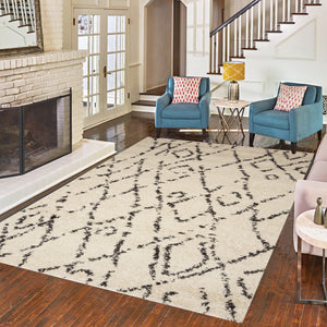 Michigan Abstract Diamond Boho Rug
