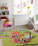 Alaska Owl Green Children Rug