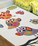Alaska Owl White Children Rug